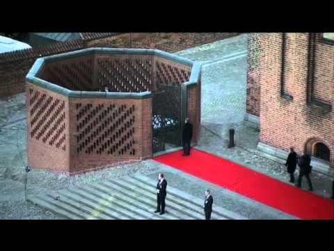 Queen Margrethe II of Denmark and family visit Grave at Roskilde Cathedral