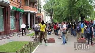 Погром Сбербанка России в Киеве