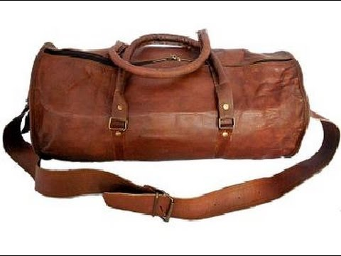 Leather Handmade 10 22 Duffle Gym Bag Overnight Travel Men Women Carryon Luggage Weekend You