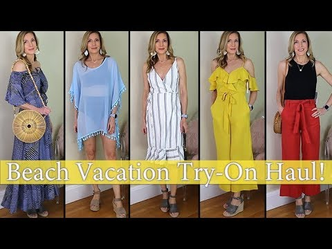 Affordable Beach Vacation Try-On Haul! Amazon, Target, Red Dress!