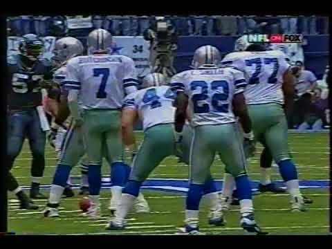 Emmitt Smith becomes the All time leading rusher Vs. Seattle 2002