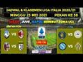 Jadwal Liga Italia Malam Ini Pekan 38 : Atalanta vs Ac Milan , Bologna vs Juventus