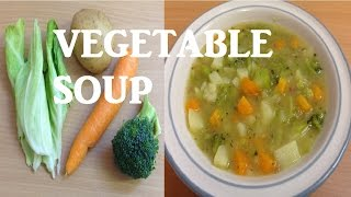 How to make Quick Healthy and Easy Homemade Chunky Vegetable Soup