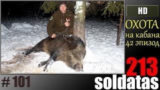 Зимняя, ночная охота на кабана в Литве