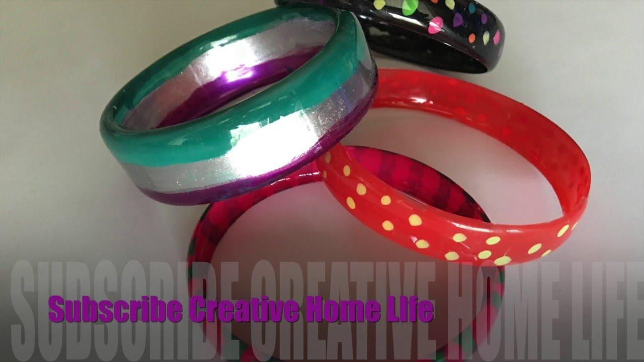 How To Make Plastic Bottle Bracelets Youtube