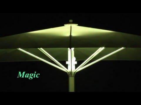 Ombrelloni ho re con illuminazione led rgb youtube