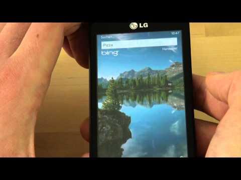 LG Optimus 7 Test Bedienung
