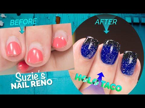 Suzie's Nail Reno: Complete Nail Renovation with Holo Taco Design! thumbnail