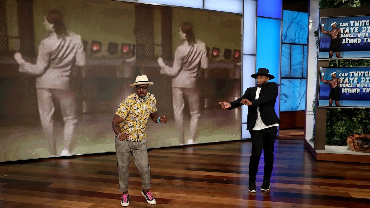 Taye Diggs and tWitch Play 'Can tWitch and Taye Diggs Dance... with What's Behind Them?