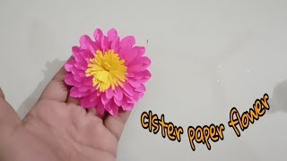 Easy Paper Flowers | Flower Making | clster flower || DIY
