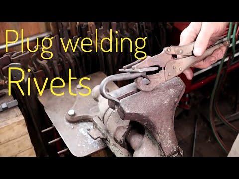 Plug welded rivets - basic blacksmithing