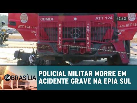 Policial Militar morre em acidente grave na Epia Sul | SBT Brasília 03/08/2018