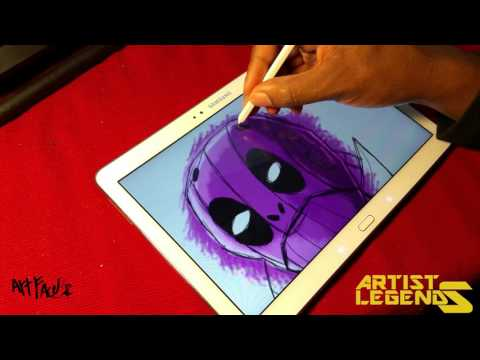 Coloring tutorial. Coloring a robot in Artflow. Artist Legends preview. Draw with me.