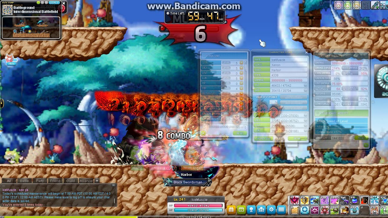 First 100mil clean range character in MapleStory - IceMuscle