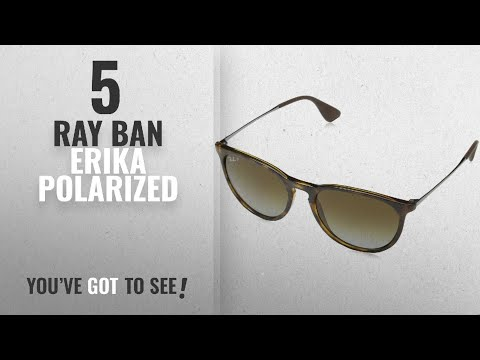 top-10-ray-ban-erika-polarized-[-winter-2018-]:-ray-ban-erika---havana-frame-polar-brown-gardient