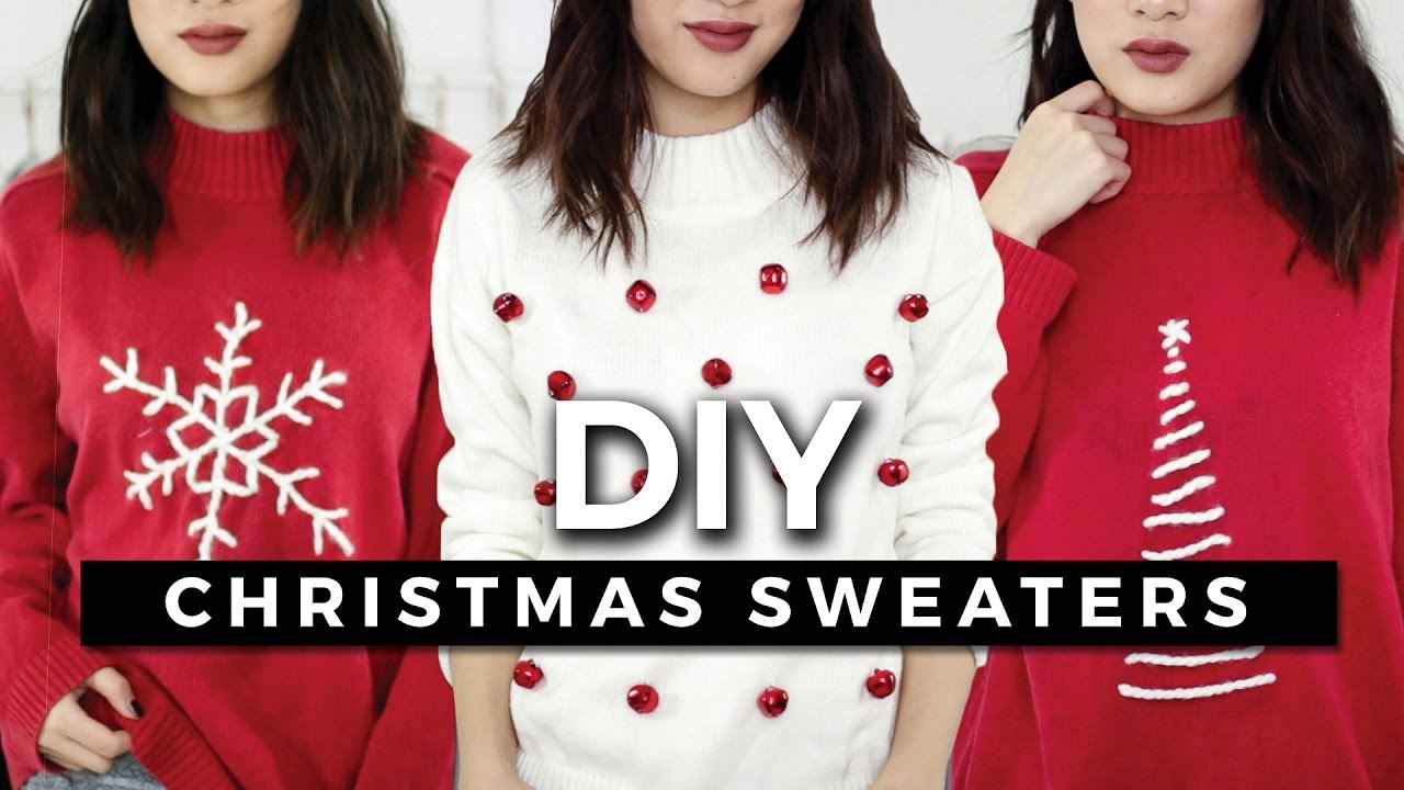 Horrible Christmas Sweaters.Diy Ugly Christmas Sweaters Easy Minimal Giveaway