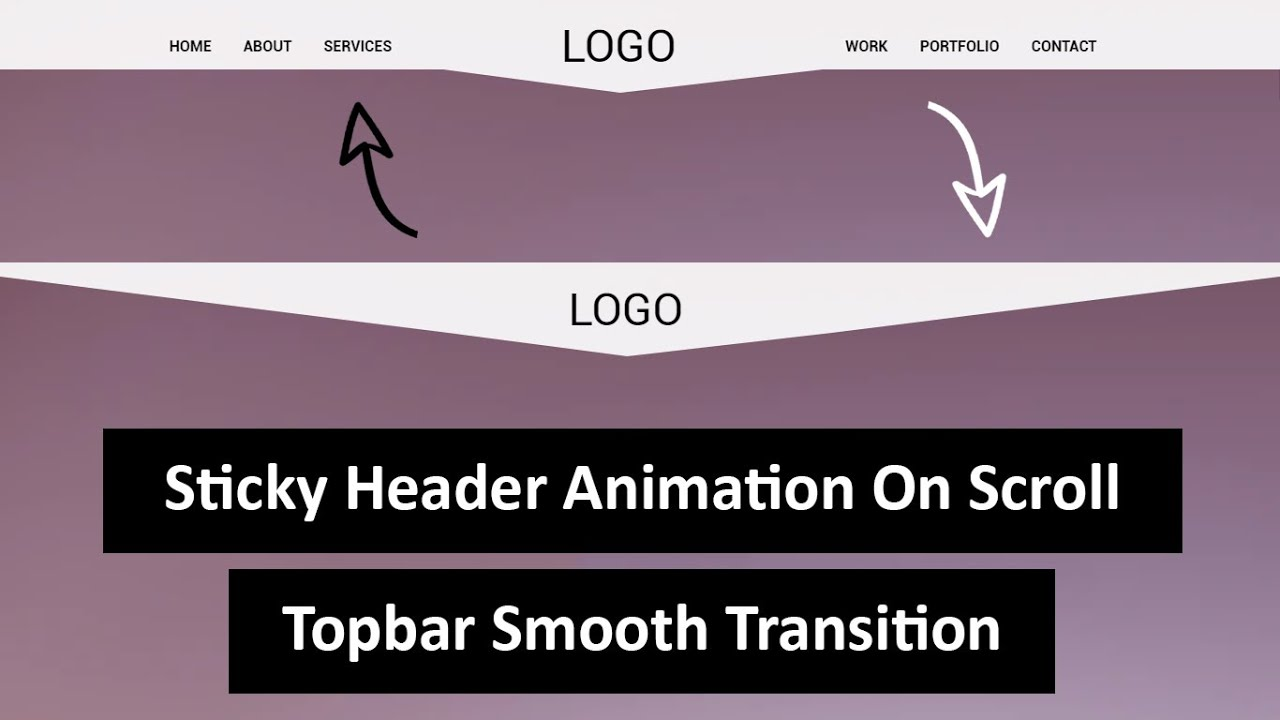 Sticky Header With Smooth Transition On Scroll Using HTML, CSS & JQUERY