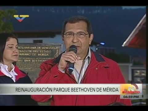 Reinauguran Parque Beethoven en Mérida
