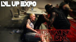 Wrestlers Crash Jim and Them's LVL Up Expo Panel