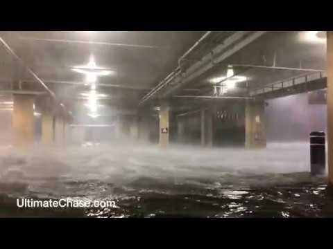 Hurricane Nate storm surge in Biloxi, Mississippi
