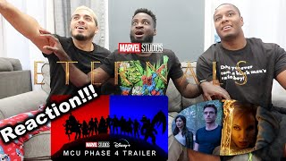 Official MCU Studios Phase 4 Trailer Reaction | Eternals Teaser Reaction!!!