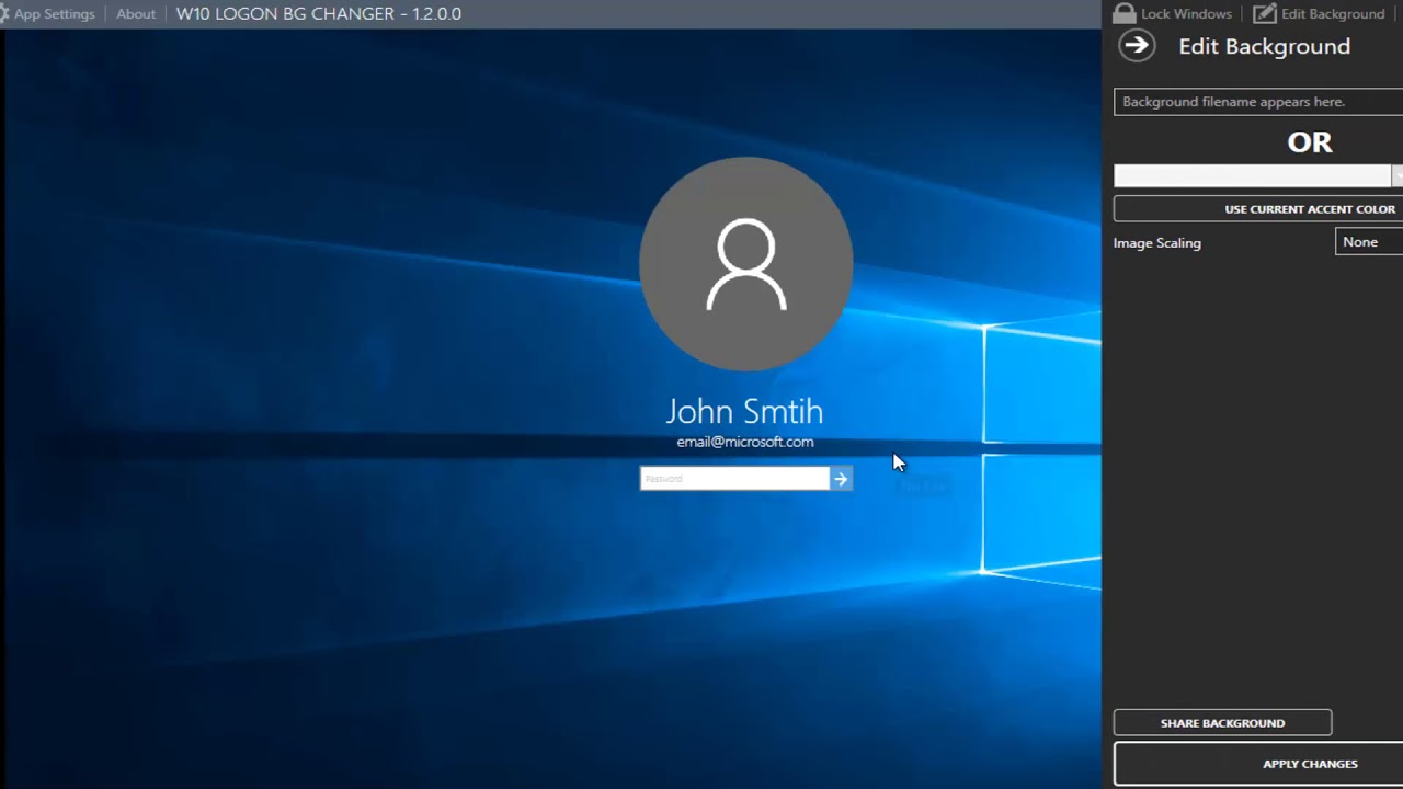How To Change The Windows 10 Login Screen Wallpaper Youtube