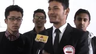 'Guinness World Record Event' interview with Dinesh Timilsina and other on NTV(Nepal Television)
