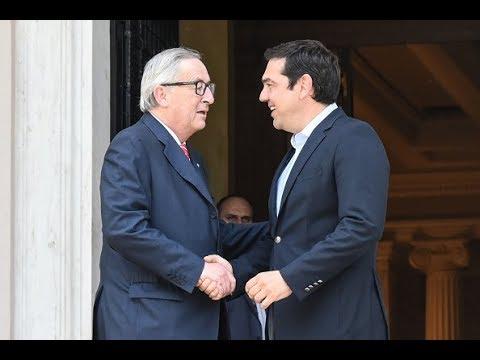 Bad Lip Reading: Tsipras and Juncker's awkward meeting   Squawk Box   CNBC International