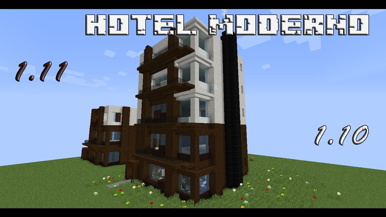 Como hacer un hotel moderno en minecraft capitulo 1 for Minecraft moderno