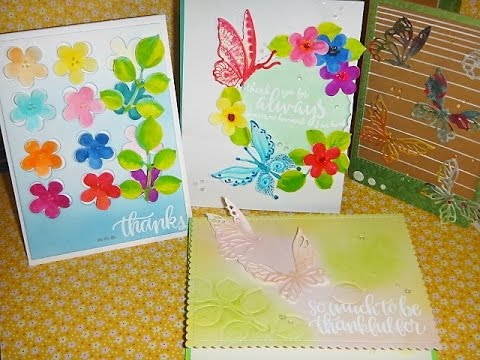 MAKERS MART - Die of the month - MARCH -2017 - 4 cards