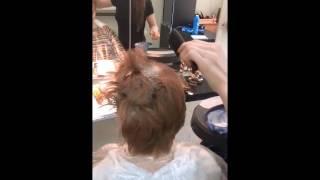 Работа ученицы Окрашивание коротких волос