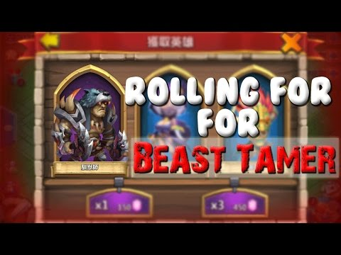 Castle Clash Rolling For Beast Tamer!