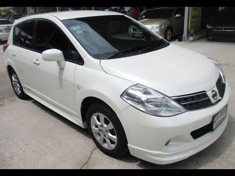 รถราคาถูก รถเก๋ง มือสอง ยี่ห้อ Nissan (นิสสัน) รุ่น TIIDA 1.8 TOP สีขาว ปี 2010 Rodrakatook #UC09