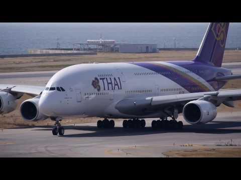 Ternyata begini take off dan landing pesawat Airbus A380 milik Thai Airways