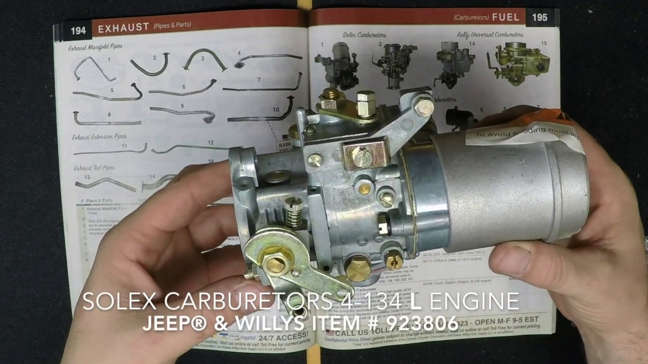 Solex Carburetors - Kaiser Willys Jeep Parts