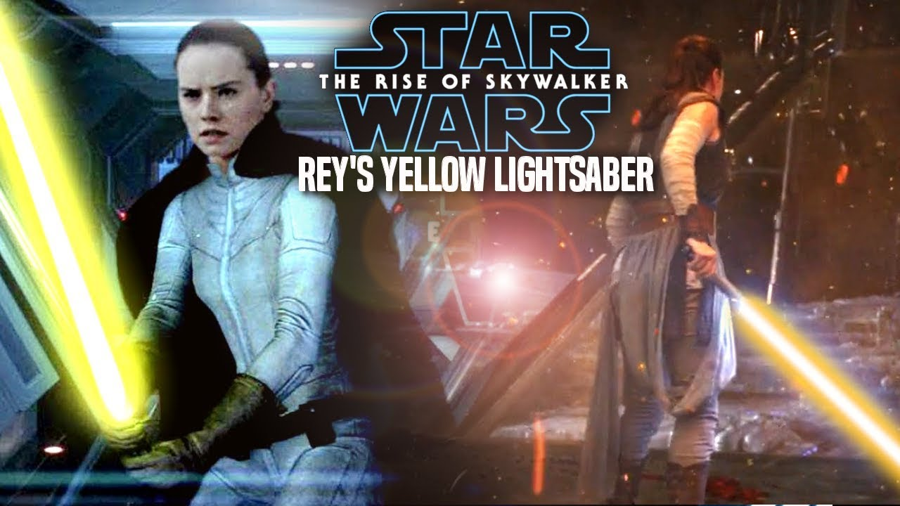 Rey S Yellow Lightsaber In The Rise Of Skywalker Leaked Hints Star Wars Episode 9 Youtube