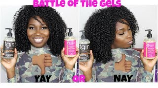 Battle Of The Gels | TGIN CURL BOMB GEL vs MIELLE ORGANICS HONEY & GINGER GEL | Natural Hair