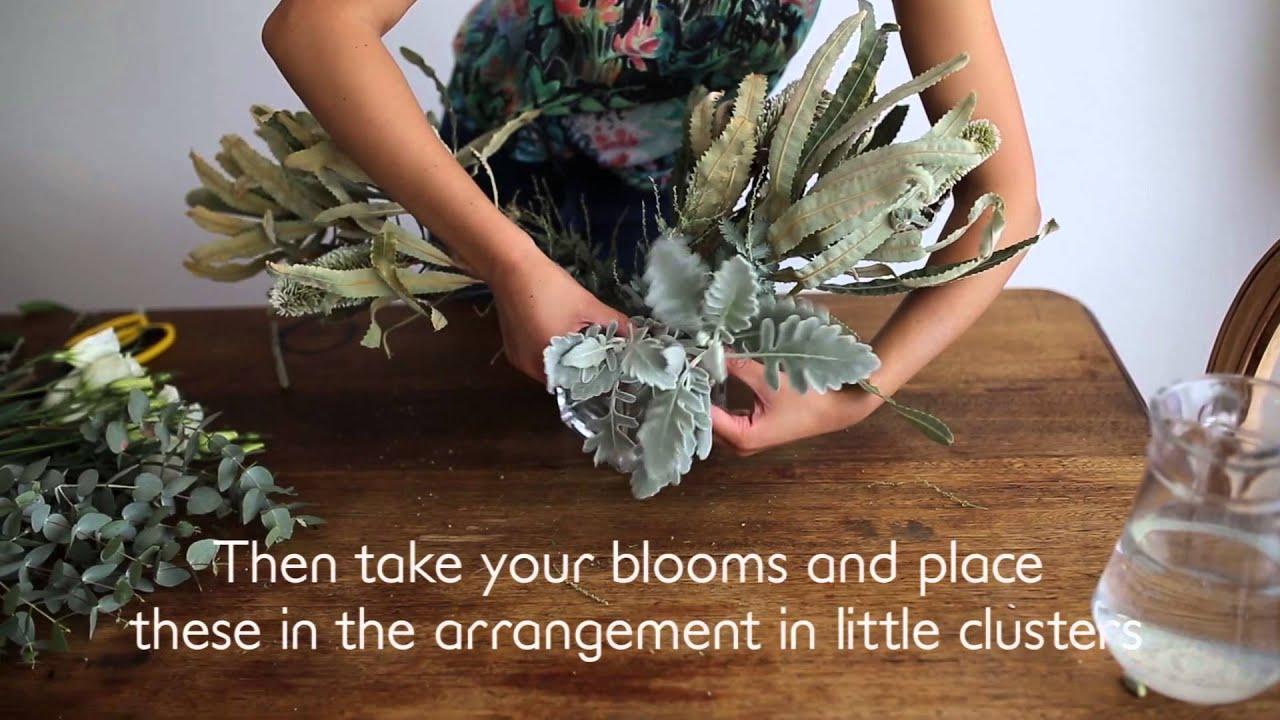 How To: DIY Aussie Native Wedding Flower Centrepiece Arrangement ...