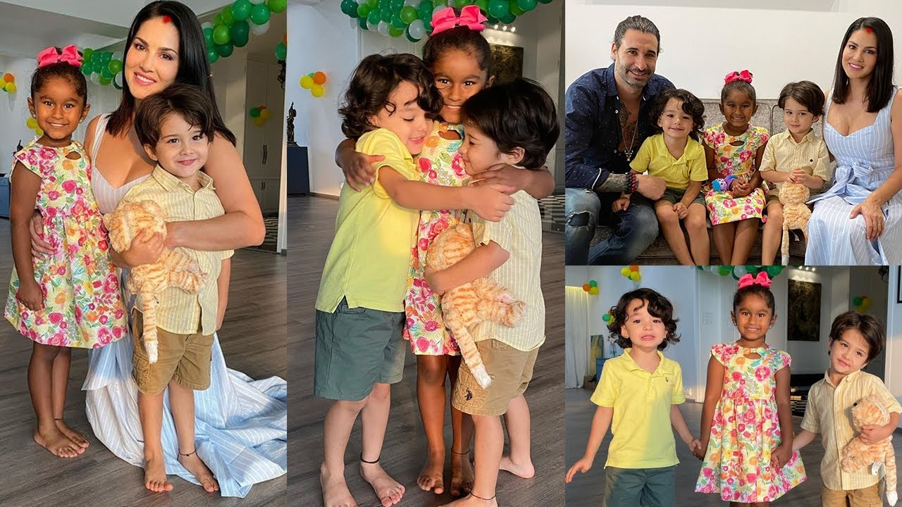 Sunny Leone celebrates Daughter Nisha Kaur's Grand Birthday Bash with Kareena,Deniel,Ashar & Noah
