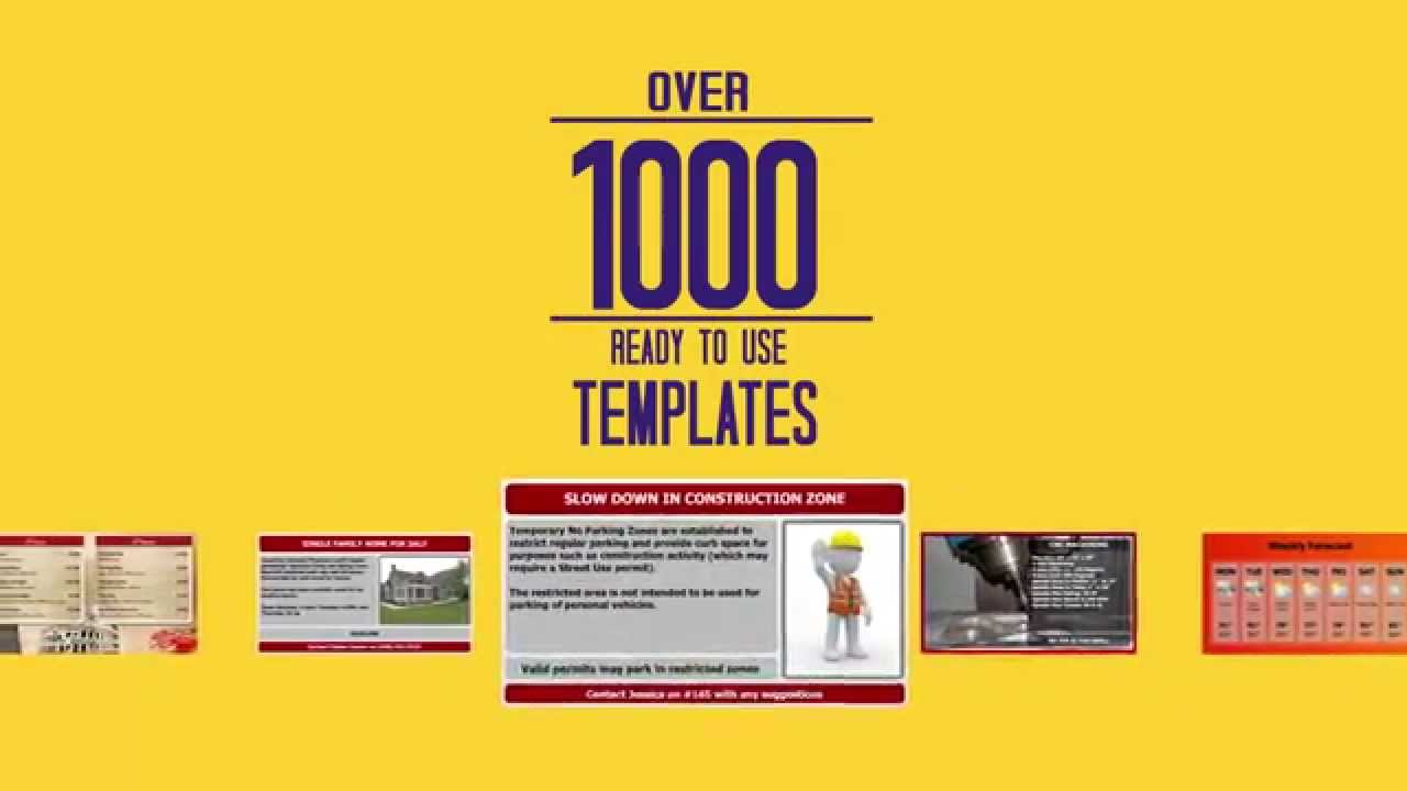 Digital Signage With 1 000 Templates For Menu Boards And Marketing