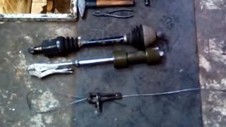 снятие внутреннего шруса  при помощи троса ручника на автомобиле шкода октавия А5 1.8 TFSI