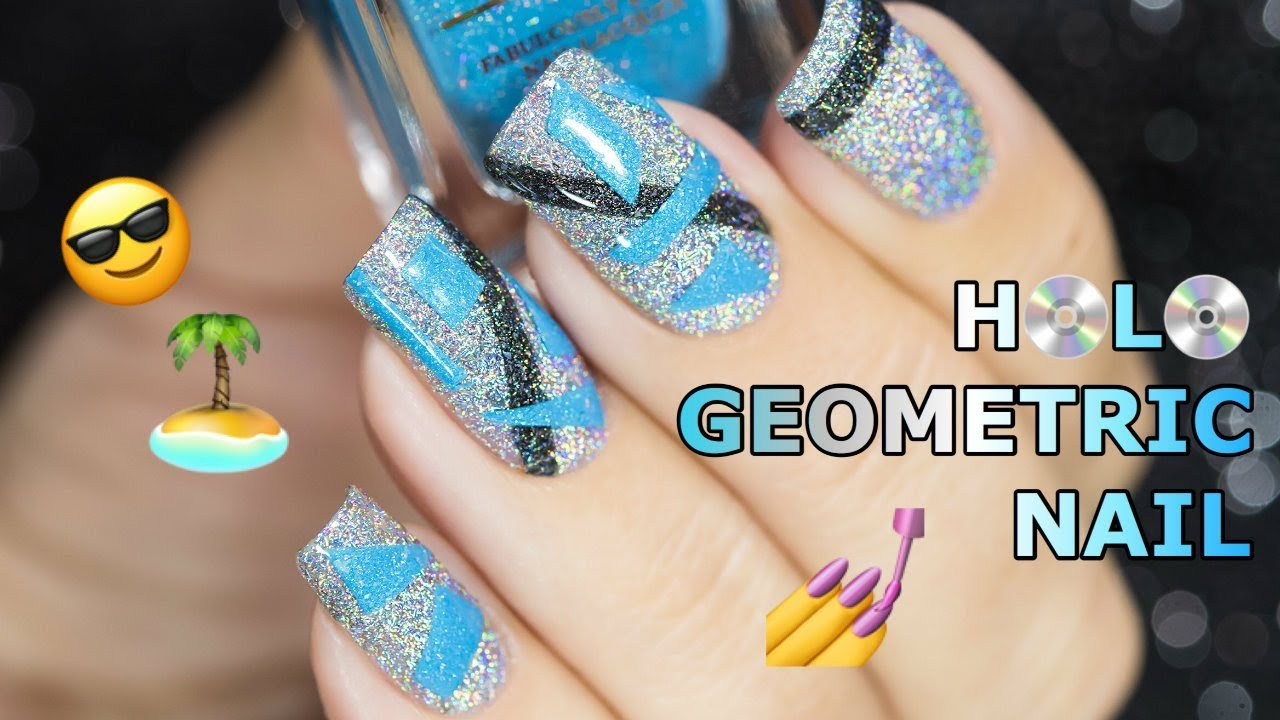 COOL SUMMER HOLO NAIL ART | F.U.N LACQUER - YouTube