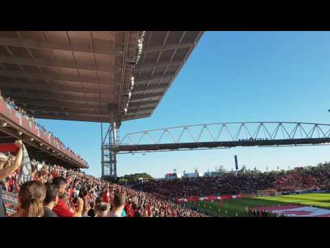 F18 fighter jet flyover at the TFC vs Philadelphia game.