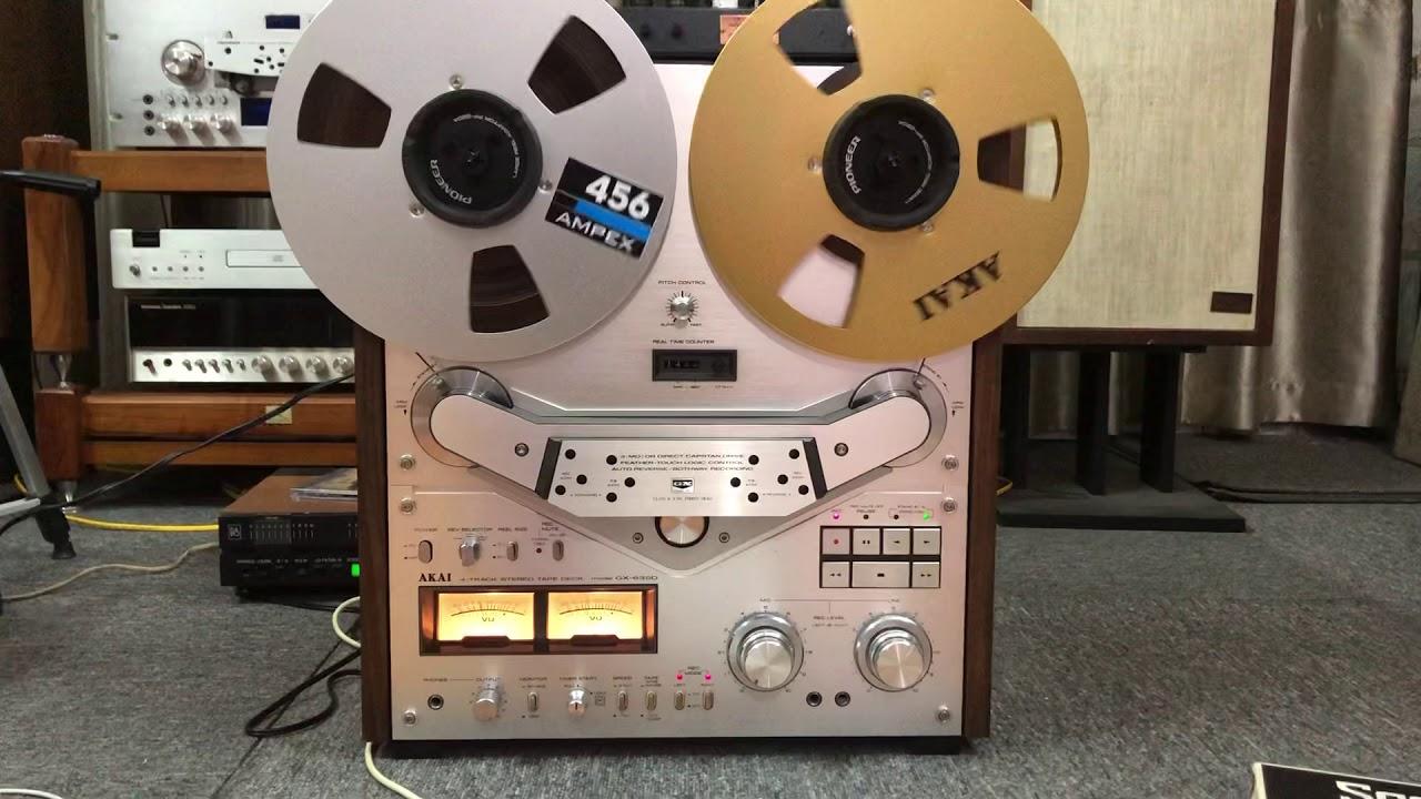 """Bán băng cối 10"""" nhạc không lời – Tuấn Cao audio phát trên đầu Akai 635D"""