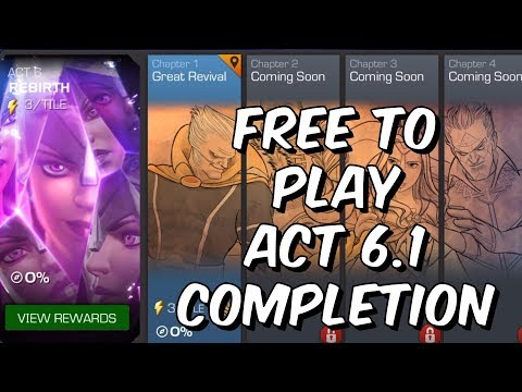 Free To Play Act 6.1 Completion - Cavalier Push - Marvel Contest of Champions