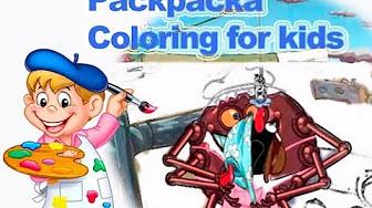 Смешарики Раскраска для детей - YouTube