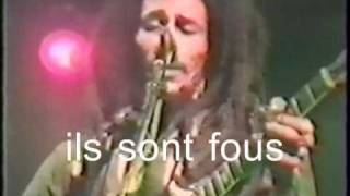 Bob Marley & the Wailers RUNNING AWAY CRAZY BALDHEAD SOUS-TITRES FR