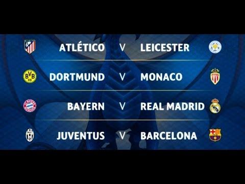 UEFA Champions League cuartos de final 2016 2017 - YouTube