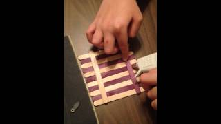 Making A Birdhouse With Popsicle Sticks And Glue Sticks: Pa