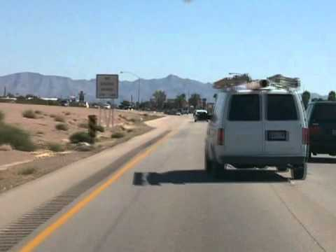 Driving to the Hacienda Casino Boulder City Nevada